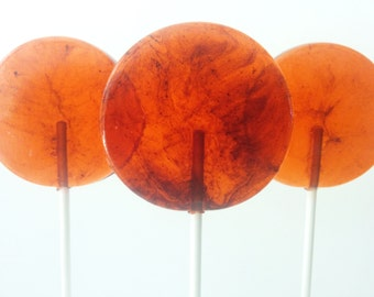 Black Pepper Bourbon Caramel Gourmet Lollipops - Pick Your Size  - Cocktail - Fathers Day Gift - Wedding favors - Party Favors