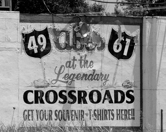 Abes Legendary BBQ at the Crossroads, Fine Art Photography, Landscape Photography, Historical Photo, Black and White