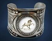 Tennessee Walking Horse on Fancy cuff bracelet