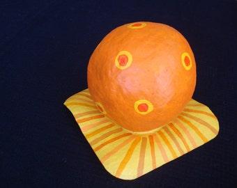Orange Bubble Hat
