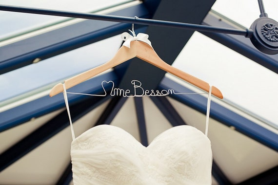 French Personalized Wedding Hanger