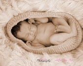 Wicker basket Baby cocoon, newborn baby photo cocoon, unisex baby accessory