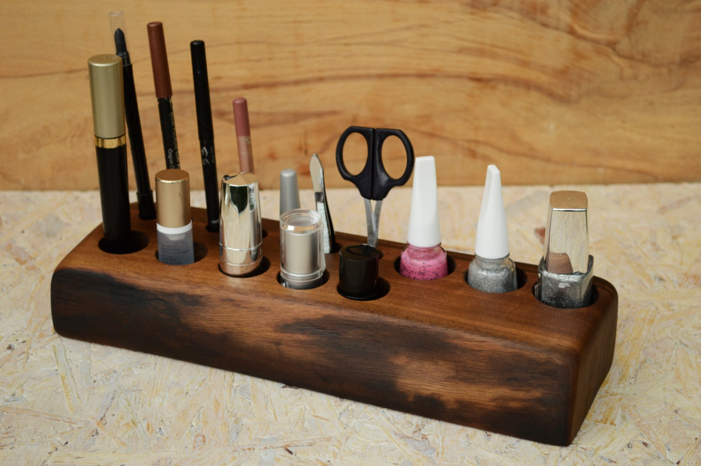 Makeup organizer wood | Etsy