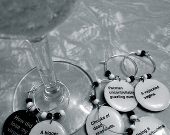 Cards Against Humanity Wine Charms (Sets of 6)