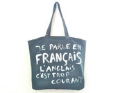 Je Parle En Français Big Bag / My Little French Shop