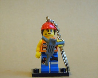 The LEGO Movie Gail the Construction Worker Keythain