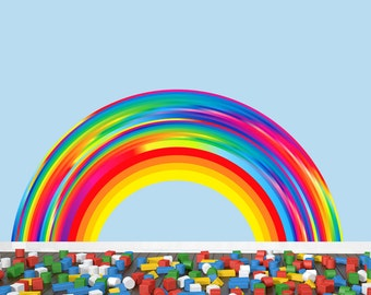 Reusable Rainbow Wall Decal EXTRA LARGE