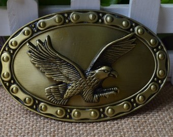 Men's Belt Buckle,Eagle Belt Buckle,Oval Metal Belt Buckle,Gothic Eagle belt buckle,Punk Belt buckle,Bronze Belt Buckle,Best for gift