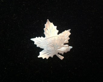 Sterling Silver Canadian Leaf Brooch