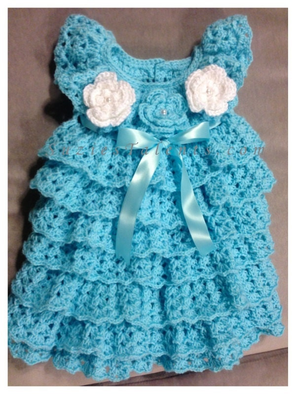 Crochet Patterns Dresses For Babies : Crochet Baby Dress Crochet Baby Layers Dress Baby by ...