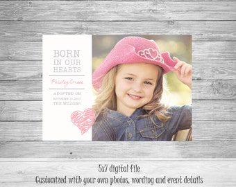 Born in Our Hearts Adoption Announcement