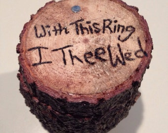 With this ring I thee wed BOX bearer alternative pillow