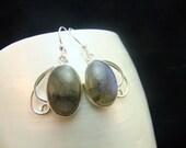 Drop Labradorite Sterling Silver Dangle Earrings