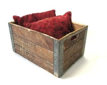 Vintage Wood Box, Storage Box, Advertising Box, Lucerne