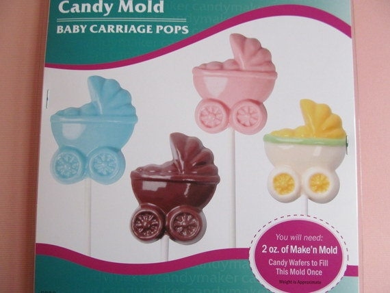 to candy mold baby carriages for candy pops great for baby showers
