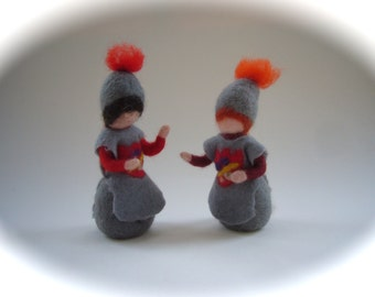 Knight doll. Hand-felted. Wet  felted. Waldorf