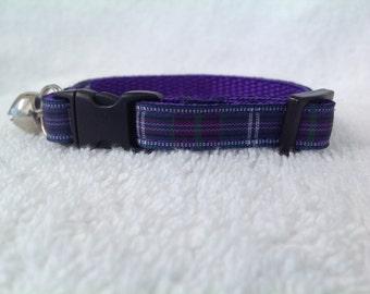 Handmade Scottish Bannockburn Tartan Cat Collar
