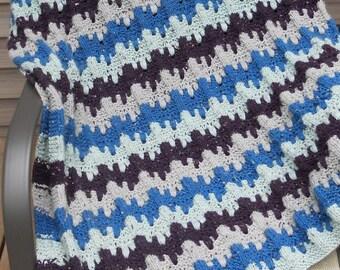 Yarn Drops Afghan - Knitting Pattern in PDF