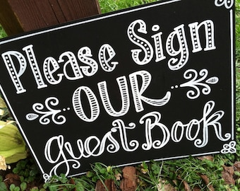Handwritten 16x20 Guest Book Sign