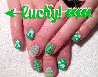 St. Patricks Day Nail Decals - Set of 50