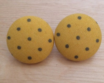 Mustard Polka Dot earrings