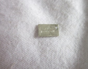 Vintage Sterling Silver Mackinaw City Charm Mfg Tag by Bell