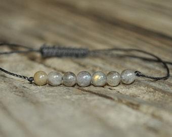 Labradorite Meditation Bracelet, Wisdom, Strength, Healing Crystal, Minimalist Jewelry, Yoga Bracelet, Fertility Bracelet, Friendship, Stack