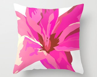 Outdoor Pillow Cover, Pink Pillow Cover 18x18, 20x20,  Decorative Flower Pillow Cover, Throw Pillow Covers