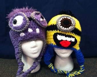 Creepy creeper monster hat by kkscrochetcorner on etsy for Loopsy doopsy