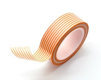Washi Tape Paper Masking Tape - Orange Stripes