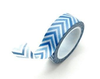 Washi Tape Paper Masking Tape - Blue Chevron
