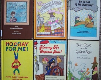 1970s Parents Magazine Press Childrens Book Lot of 12 - My Friend Jasper Jones, Hooray for Captain Jane, I Wonder Whats Under, Hooray for Me