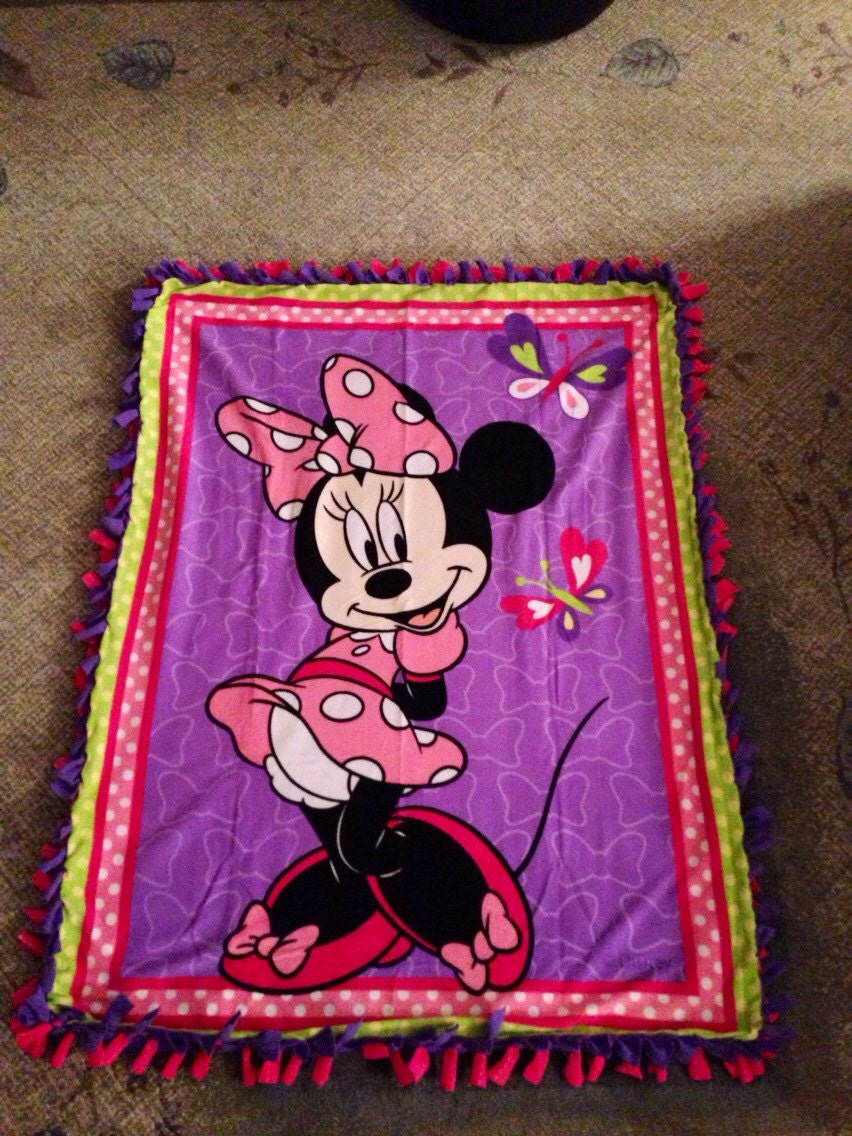 Minnie Mouse Fleece Tie Blanket By Blanketsunlimited On Etsy