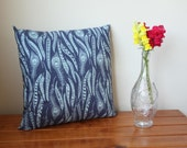 ON SALE: Handmade Designer Demin Feathers Cushion Pillow With Zip Closure