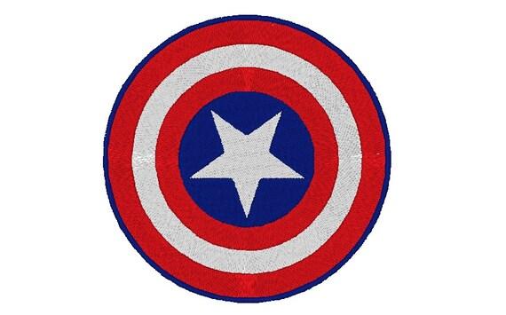 Captain America Embroidery Design