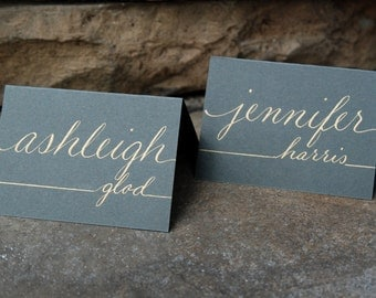 Custom Wedding & Event Name Card / Placecard / Calling Card  Personalized Hand Calligraphy - Made to Order
