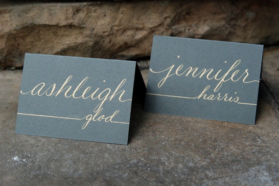 Custom wedding event name card placecard calling card for Personalized wedding place cards