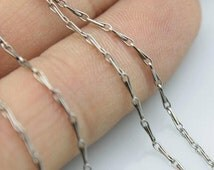 20pcs 18inch 1.4mm 316l stainless steel necklace Melon seeds chain soldered