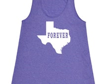 Texas Forever Tank Top.Womens  American Apparel Tri Blend Racerback Tank.Texas Clothing.Texas Shirt.Texas Tank Top.Texas Tank .Texas Love