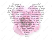 Personalized Bridal Gift on Wedding Day from Mom and/or Dad to Daughter Wedding Day Bridal Gift Poem 8 x 10 Print