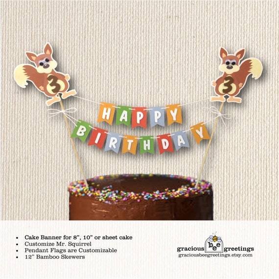 Cake Banner Birthday Party 1st 2nd 3rd 4th Children