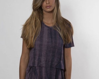 Summer women shirt / Purple spring top / Unique blouse / Casual short sleeves top