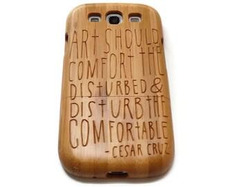 Samsung Galaxy S3  case - wooden S3 case walnut / cherry or bamboo -  Art should
