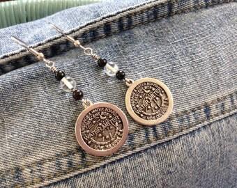New Orleans water meter earrings in silver