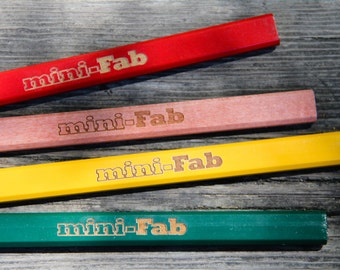 Personalized Wood Carpenter's Pencil - 6 Pack