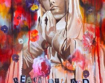 Virgin Mary painting:  Reach out (Touch faith)