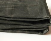 1/2 Hand Yard Waxed Cotton Canvas Fabric - Dark Olive 12oz.