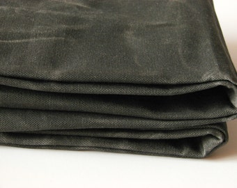 Waxed Cotton Canvas Fabric - Dark Olive 12oz. 66 Inches wide by the yard