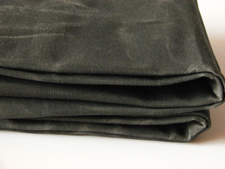 hand waxed cotton canvas fabric dark olive 12oz
