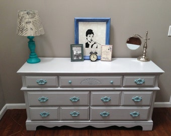 SOLD Shabby Chic Coastal Cottage Dresser